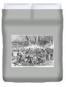 Flood Of Fish, 1867 Duvet Cover