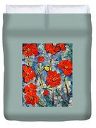 Floral Art - Red Poppies Duvet Cover