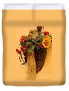 Floral Horn Of Plenty Duvet Cover