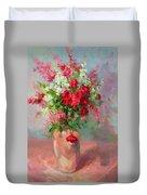 Floral In Pink Duvet Cover