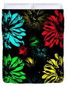 Floral Pop Art Duvet Cover