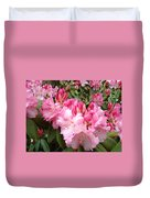 Floral Rhodies Photography Pink Rhododendrons Prints Duvet Cover by Baslee Troutman