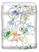 Floral Watercolor Paintings 4 Duvet Cover