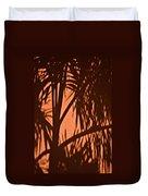 Florida Palm Shadow Duvet Cover