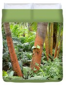 Florida Palms And Ferns Duvet Cover