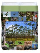 Florida Wildlife Photo Collage Duvet Cover