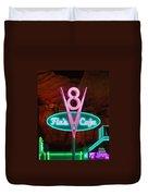 Flo's V8 Cafe - Cars Land - Disneyland Duvet Cover by Heidi Smith