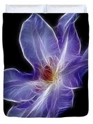 Flower - Clematis - Abstract Duvet Cover