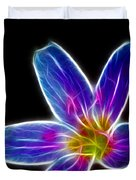 Flower - Electric Blue - Abstract Duvet Cover