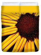 Flower - Yellow And Brown - Abstract Duvet Cover