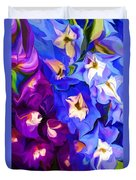 Flower Arrangement 012812 Duvet Cover by David Lane