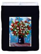 Flower Arrangement Bouquet Duvet Cover by Patricia Awapara