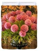 Flower Arrangement Chateau Chenonceau Duvet Cover