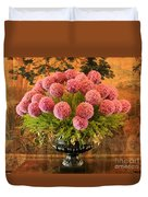 Flower Arrangement Chateau Chenonceau Duvet Cover