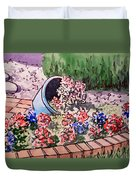 Flower Bed Sketchbook Project Down My Street Duvet Cover