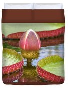 Victoria Amazonica Bud Duvet Cover