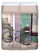 Flower For Later Urban Art Duvet Cover