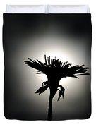 Flower In Backlight Duvet Cover