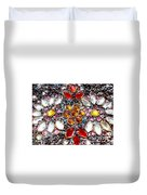 Flower Of Beads Duvet Cover