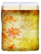Flower Pattern Duvet Cover by Setsiri Silapasuwanchai