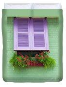 Flower Pot Window Duvet Cover