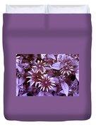 Flower Rudbeckia Fulgida In Uv Light Duvet Cover by Ted Kinsman