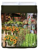 Flower Shop In Amsterdam Duvet Cover