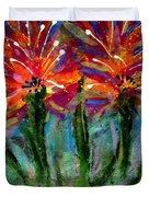 Flower Towers Duvet Cover