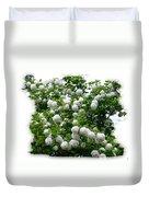 Flowering Snowball Shrub Duvet Cover