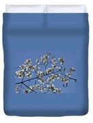 Flowering White Dogwood Duvet Cover