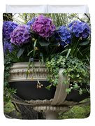 Flowerpot With Hydrangea Duvet Cover