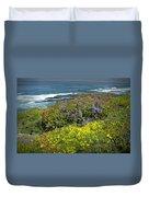 Flowers Along The Shore At La Jolla California No.0203 Duvet Cover