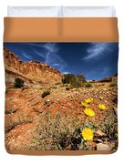 Flowers And Canyons Duvet Cover