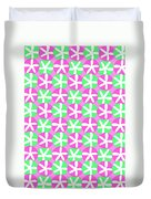 Flowers And Spots  Duvet Cover by Louisa Knight