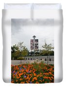 Flowers At Citi Field Duvet Cover by Rob Hans