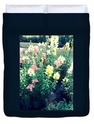 Flowers At Noon Duvet Cover
