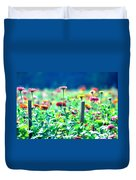 Flowers Everywhere Duvet Cover