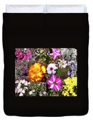 Flowers In Stephanie's Garden Duvet Cover