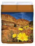Flowers In The Capitol Duvet Cover