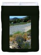 Flowers In The Gold Hill Desert Duvet Cover