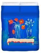 Flowers In Vase Duvet Cover