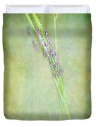 Flowers Of The Grass Duvet Cover