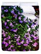 Flowers On The Hill Duvet Cover