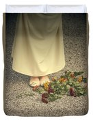 Flowers On The Street Duvet Cover by Joana Kruse
