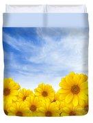 Flowers Over Sky Duvet Cover