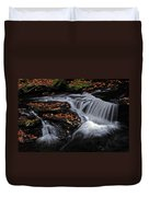 Flowing Through Fall Color Duvet Cover