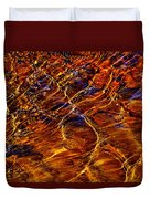 Flowing Water Of The Elwha Duvet Cover