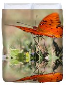 Fluttering Reflections - Butterfly Duvet Cover