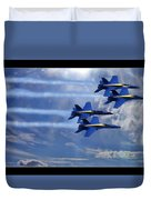 Fly The Skys Blue Angels Duvet Cover