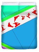 Flying Boards Duvet Cover by Naxart Studio